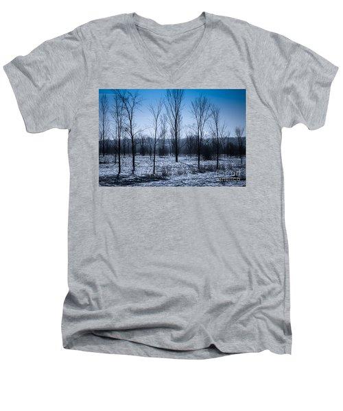 Men's V-Neck T-Shirt featuring the photograph Winter Wonderland by Bianca Nadeau