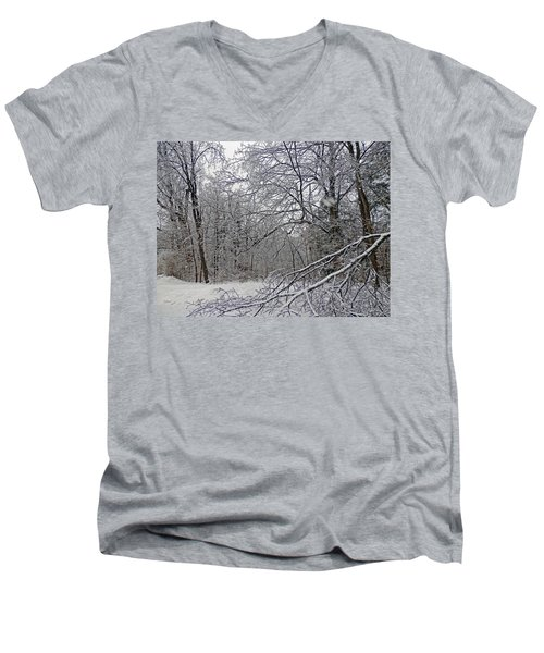 Winter Wonderland Men's V-Neck T-Shirt by Pema Hou