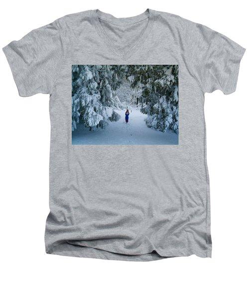Winter Wonderland Men's V-Neck T-Shirt by Richard Brookes