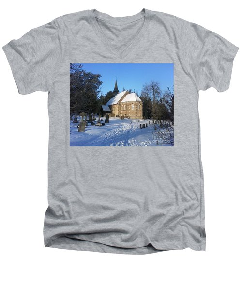 Men's V-Neck T-Shirt featuring the photograph Winter Worship by John Williams