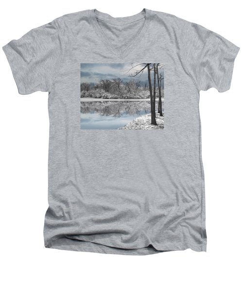 Winters Delight 6 Men's V-Neck T-Shirt by Cedric Hampton