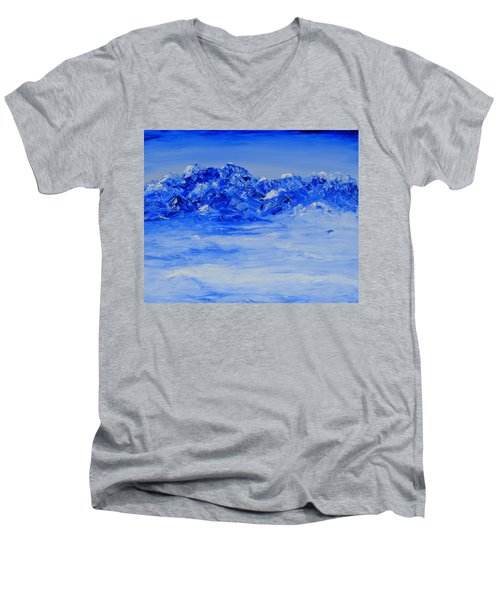 Winters Frosty Hues Men's V-Neck T-Shirt