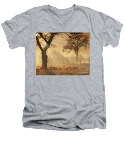 Winter's Gold Men's V-Neck T-Shirt