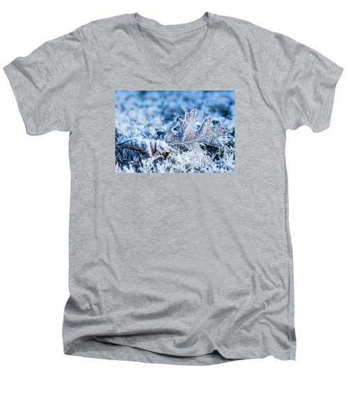 Winter's Icy Grip Men's V-Neck T-Shirt