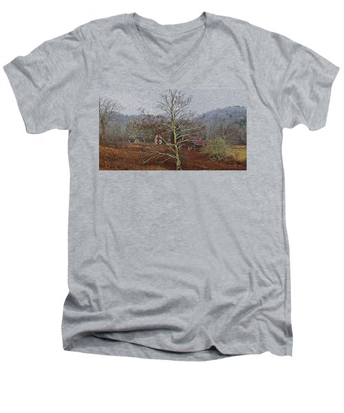 Winter's Sentinel V2 Men's V-Neck T-Shirt