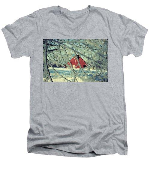 Our Frosty Barn Men's V-Neck T-Shirt by Julie Hamilton