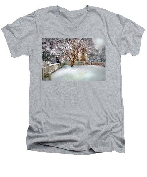 Wintry Garden Men's V-Neck T-Shirt