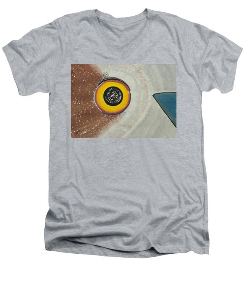 Wise Owl Original Painting Men's V-Neck T-Shirt by Sol Luckman