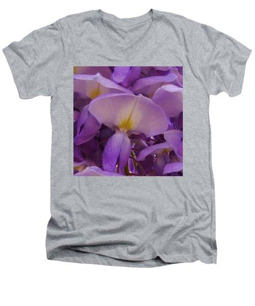 Wisteria Parasol Men's V-Neck T-Shirt by Claudia Goodell