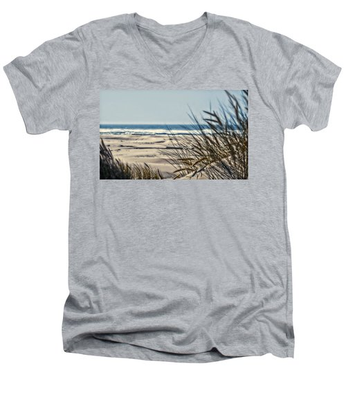 Men's V-Neck T-Shirt featuring the photograph With Every Breath by Janie Johnson