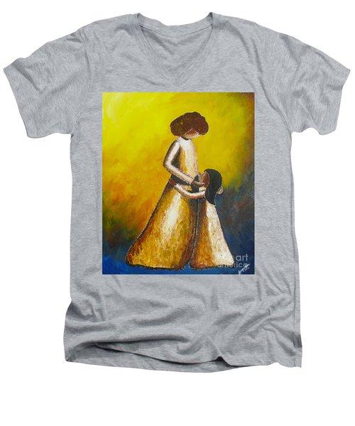 With Her Men's V-Neck T-Shirt