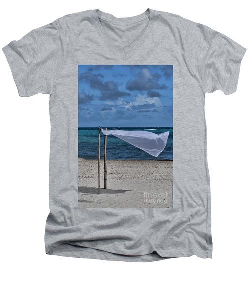 With The Wind Men's V-Neck T-Shirt