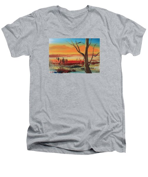 Withered Tree Men's V-Neck T-Shirt by Remegio Onia