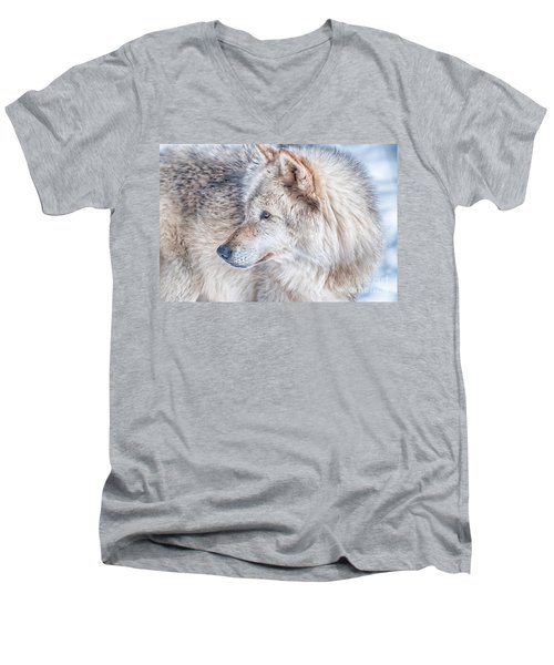 Wolf In Disguise Men's V-Neck T-Shirt by Bianca Nadeau
