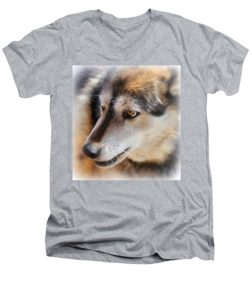 Wolf Spirit Men's V-Neck T-Shirt