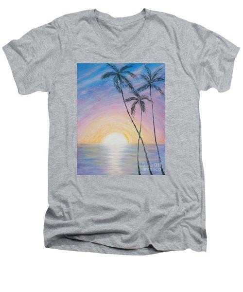 Wonderful Sunrise In Paradise Men's V-Neck T-Shirt