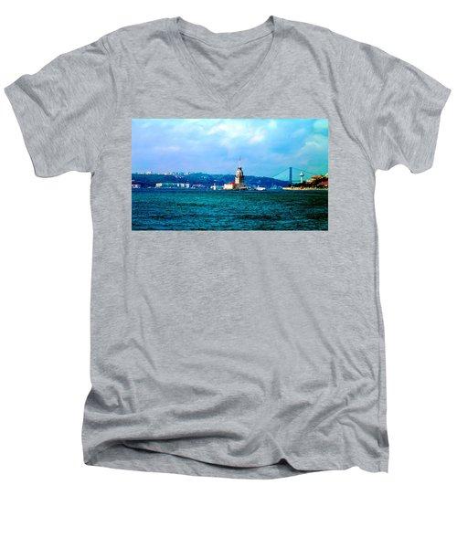 Wonders Of Istanbul Men's V-Neck T-Shirt