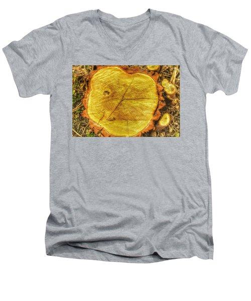 Wood Men's V-Neck T-Shirt by Daniel Precht