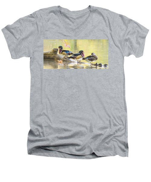 Wood-ducks Panorama Men's V-Neck T-Shirt