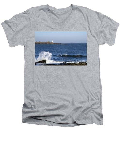 Wood Island Light Men's V-Neck T-Shirt