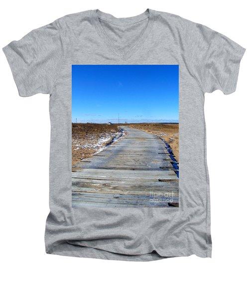 Plum Island Men's V-Neck T-Shirt by Eunice Miller
