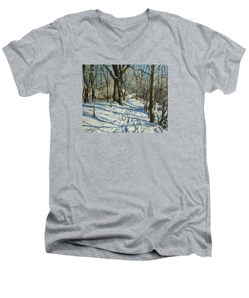 Woodland Journey Men's V-Neck T-Shirt