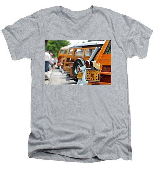 Woodys On Ocean Avenue  Men's V-Neck T-Shirt