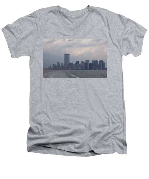 World Trade Center May 2001 Men's V-Neck T-Shirt by Kenneth Cole