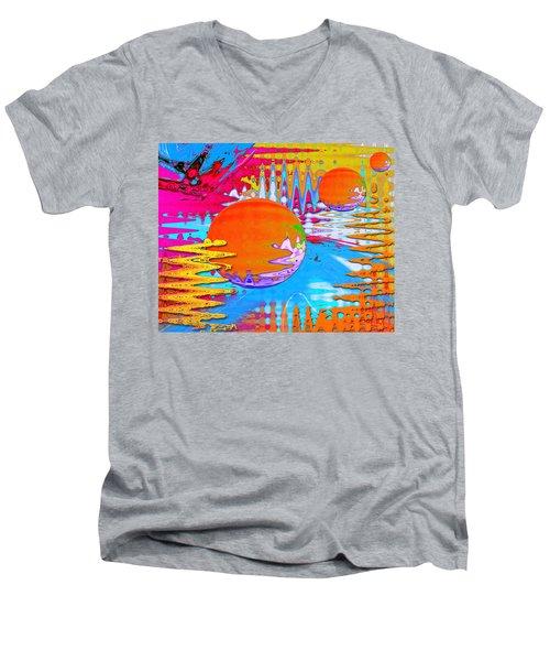 Worlds Apart Men's V-Neck T-Shirt
