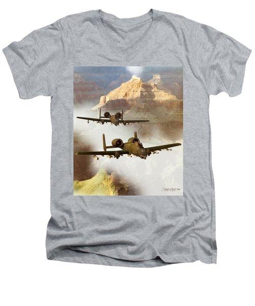 Wrath Of The Warthog Men's V-Neck T-Shirt