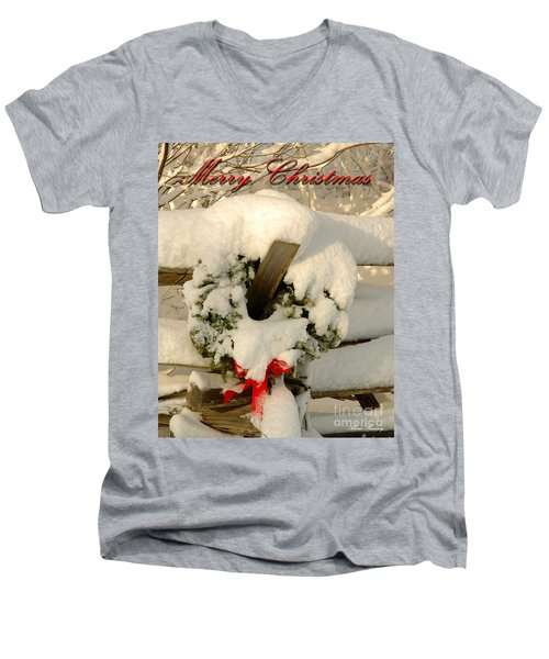Men's V-Neck T-Shirt featuring the photograph Wreath  by Alana Ranney