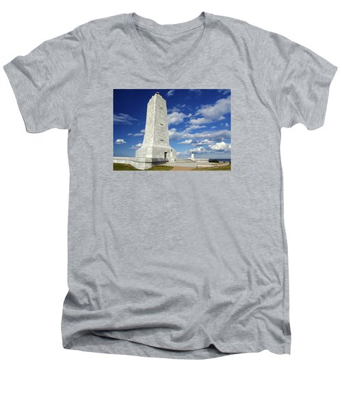Wright Brothers Memorial D Men's V-Neck T-Shirt
