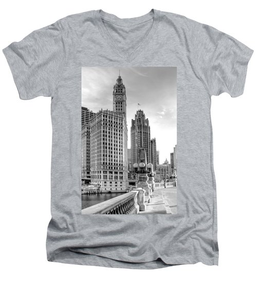 Wrigley And Tribune Men's V-Neck T-Shirt