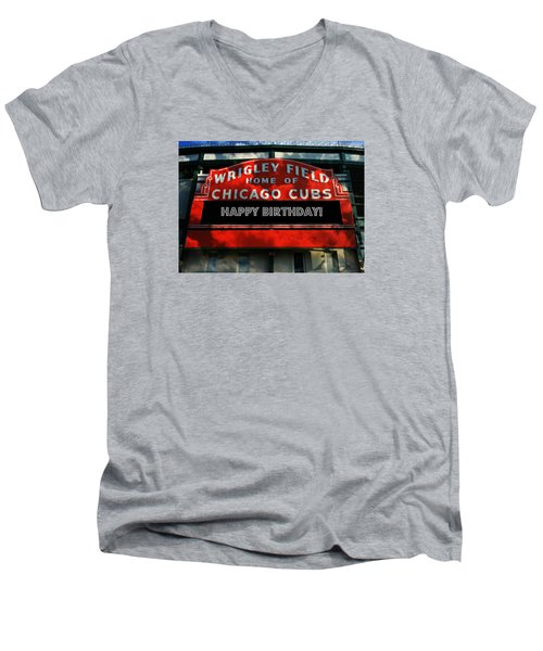 Wrigley Field -- Happy Birthday Men's V-Neck T-Shirt