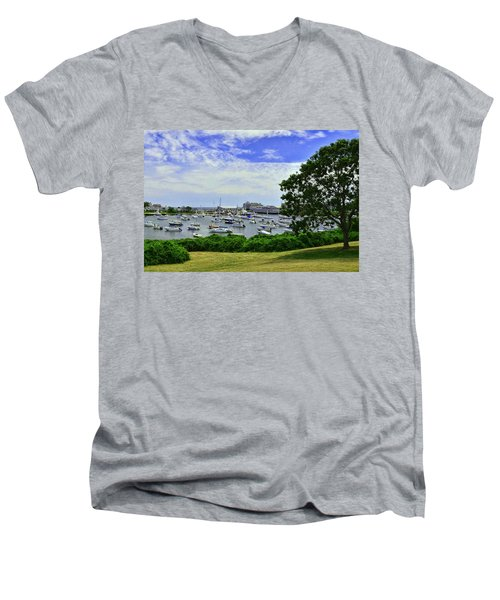 Wychmere Harbor Men's V-Neck T-Shirt by Allen Beatty