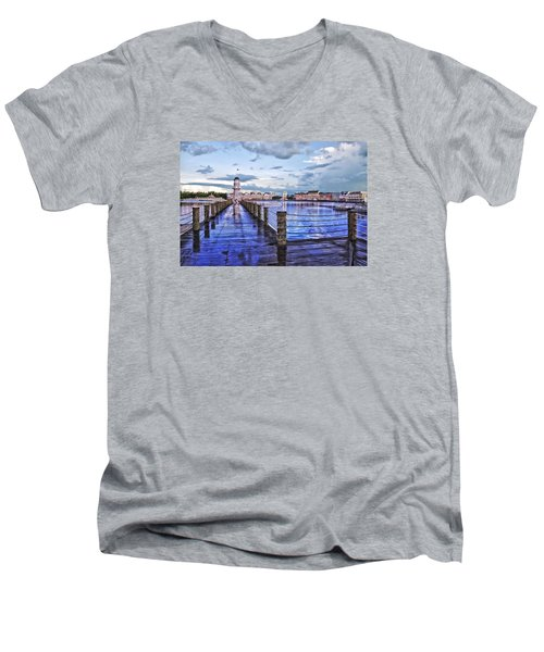 Yacht And Beach Club Lighthouse Men's V-Neck T-Shirt