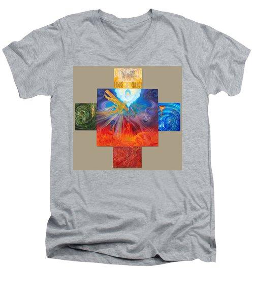 Yahweh El Shaddai Men's V-Neck T-Shirt