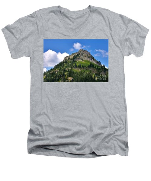 Men's V-Neck T-Shirt featuring the photograph Yakima Peak by Sean Griffin