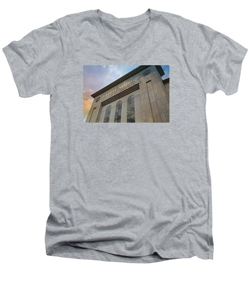 Yankee Stadium Men's V-Neck T-Shirt by Stephen Stookey