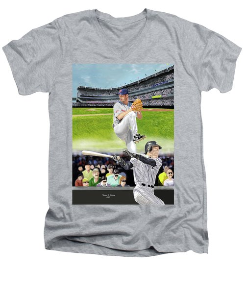 Yankees Vs Indians Men's V-Neck T-Shirt