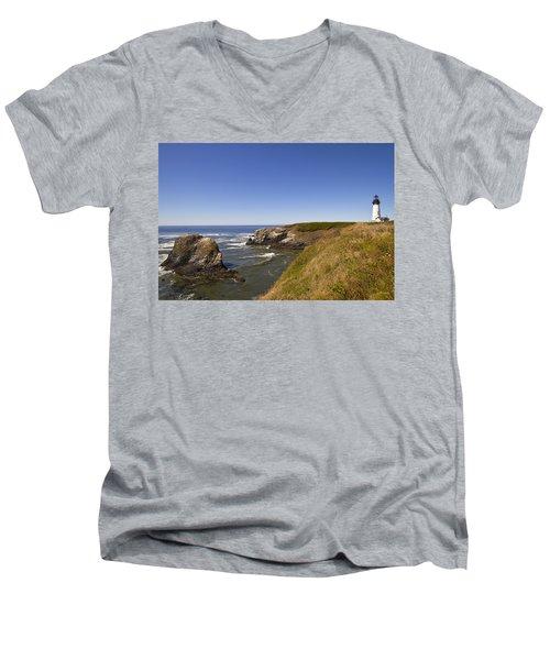 Yaquina Head Lighthouse 4 Men's V-Neck T-Shirt