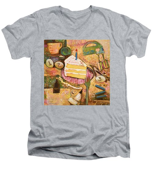 Yellow Cake Recipe Men's V-Neck T-Shirt