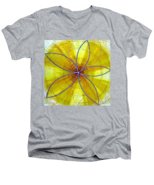 Yellow Chakra Men's V-Neck T-Shirt