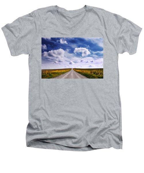 Yellow Flower Road Men's V-Neck T-Shirt