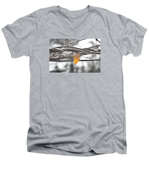 Yellow Leaf Men's V-Neck T-Shirt