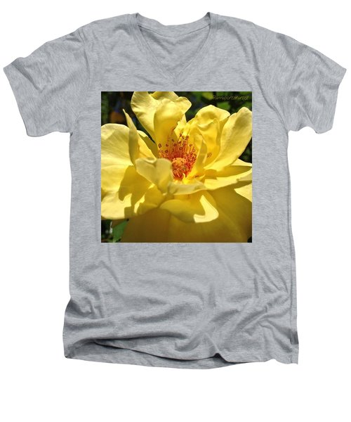 Yellow Monday Rose Men's V-Neck T-Shirt
