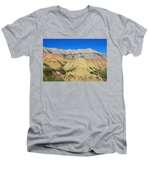 Yellow Mounds Badlands National Park Men's V-Neck T-Shirt