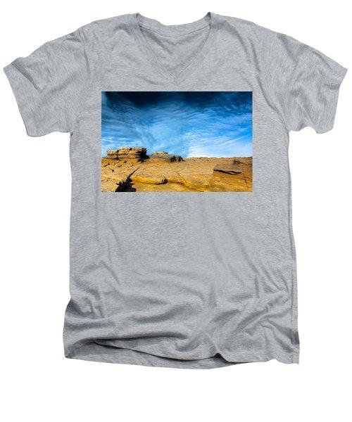 Yellow Rock Men's V-Neck T-Shirt