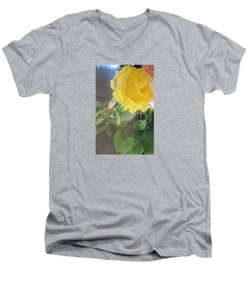 Yellow Rose- Greeting Card Men's V-Neck T-Shirt