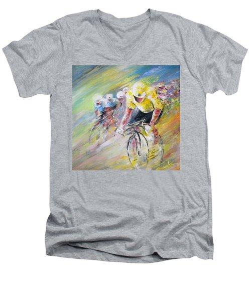 Yellow Triumph Men's V-Neck T-Shirt